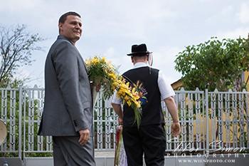 Esküvői kikérők fotózása.